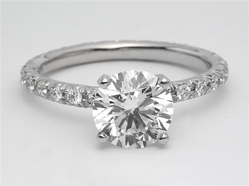 Platinum 1.72 Round cut Engagement Ring