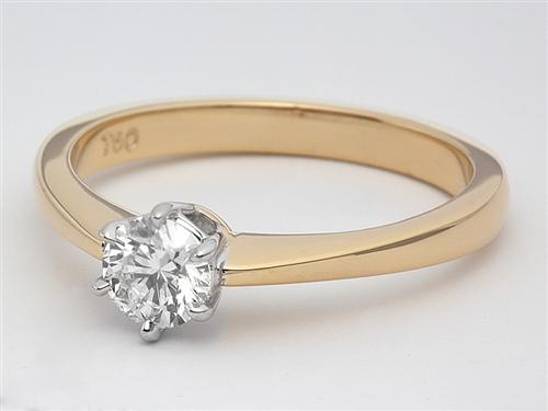 Gold 0.35 Round cut Solitaire Ring Designs