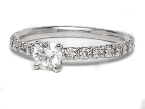 Platinum  Pave Ring Mountings