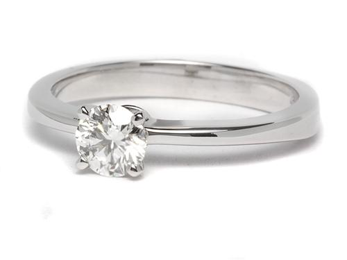 White Gold 0.55 Round cut Diamond Solitaire Engagement Ring