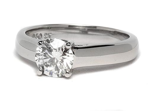 Platinum 0.90 Round cut Solitaire Ring Mountings
