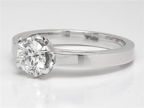 White Gold 0.76 Round cut Solitaire Diamond Rings