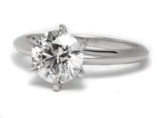 Platinum 1.55 Round cut Solitaire Rings