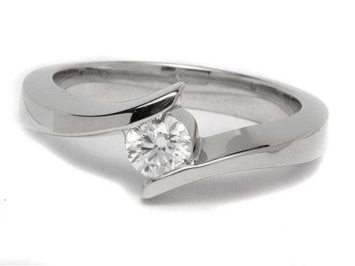 Platinum 0.32 Round cut Solitaire Rings