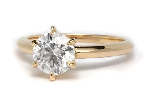 Gold 1.13 Round cut Solitaire Ring Designs