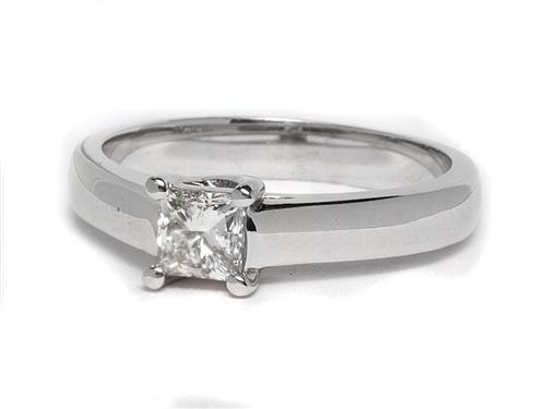 White Gold  Solitaire Ring