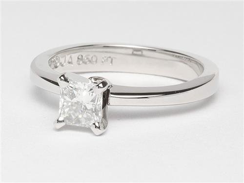 Platinum 0.62 Princess cut Diamond Rings