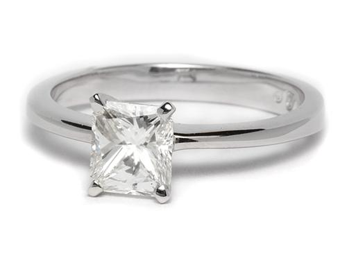 White Gold 1.04 Radiant cut Solitaire Ring Mountings