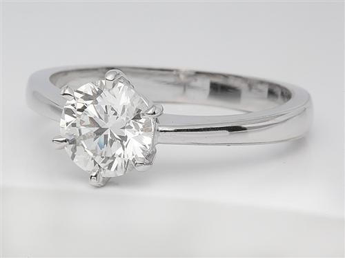 White Gold 1.02 Round cut Engagement Rings