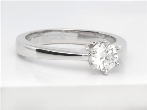 White Gold 0.33 Round cut Diamond Ring
