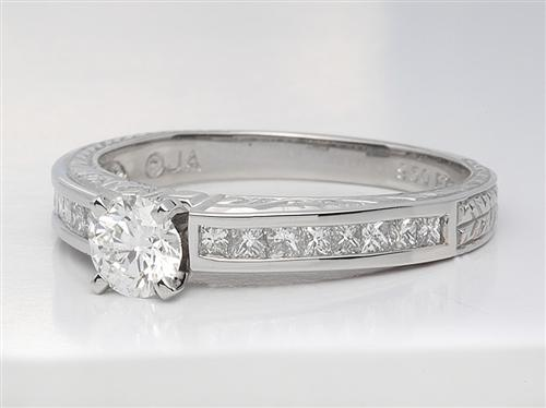 Platinum 0.52 Round cut Wedding Ring Sets
