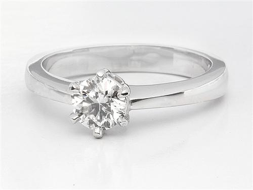 White Gold 0.38 Round cut Engagement Rings