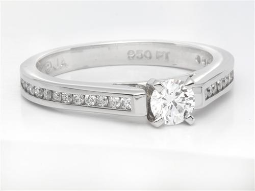 Platinum 0.31 Round cut Diamond Rings