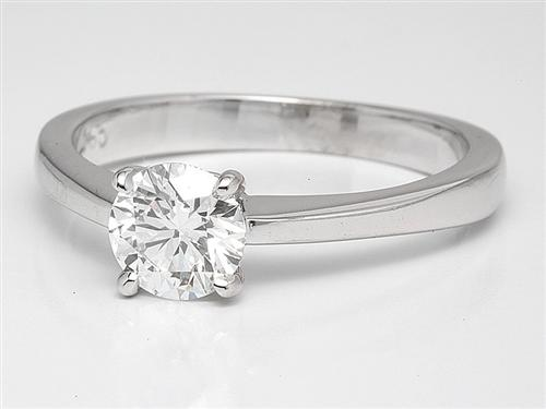 White Gold 0.69 Round cut Engagement Ring
