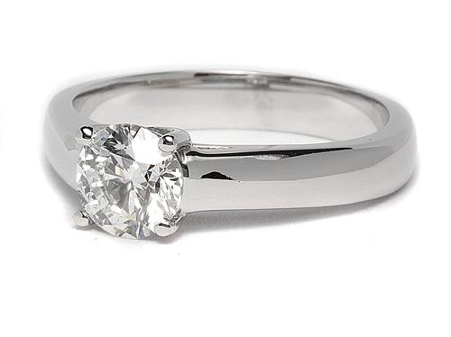 White Gold 0.85 Round cut Solitaire Ring Mountings