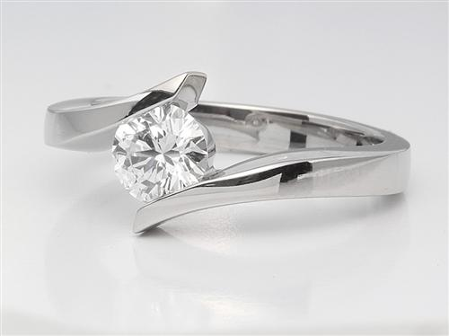 Platinum 0.81 Round cut Diamond Solitaire Ring Settings