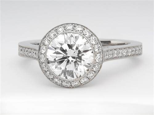 Platinum  Micro Pave Ring