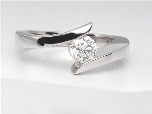 White Gold 0.40 Round cut Solitaire Ring Setting