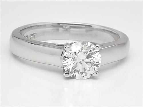 Platinum 0.96 Round cut Solitaire Ring Settings