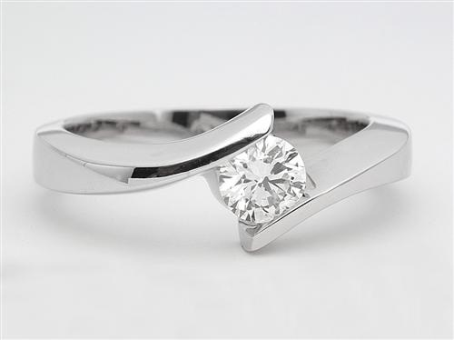 White Gold 0.41 Round cut Solitaire Ring