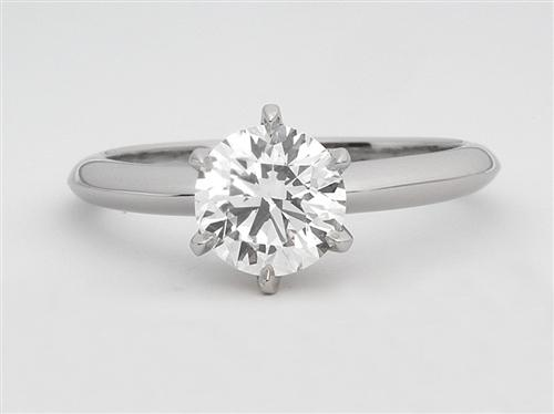 Platinum 1.22 Round cut Diamond Engagement Solitaire Rings