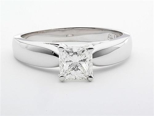 White Gold 1.00 Radiant cut Solitaire Engagement Ring