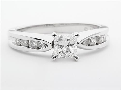 White Gold 0.53 Princess cut Engagement Ring