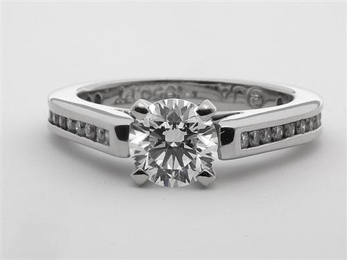 Platinum 0.73 Round cut Diamond Ring