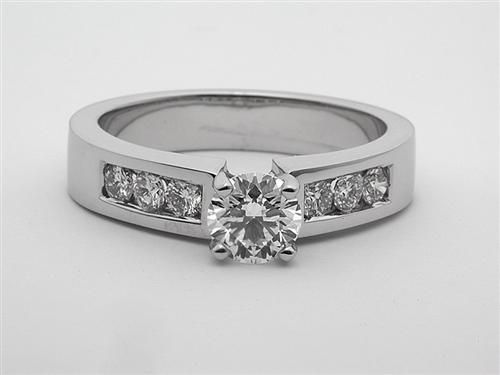 White Gold 0.64 Round cut Diamond Rings