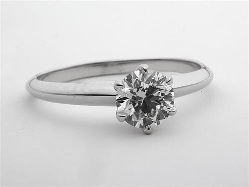 White Gold 0.92 Round cut Diamond Solitaire Rings