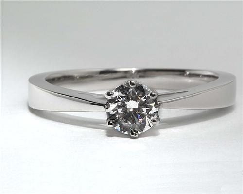 Platinum 0.48 Round cut Diamond Solitaire Ring Settings