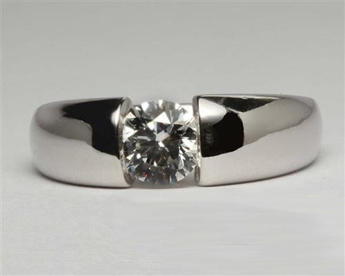 Platinum 0.84 Round cut Solitaire Ring