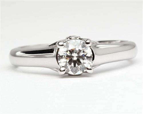 White Gold 0.60 Round cut Diamond Solitaire Rings
