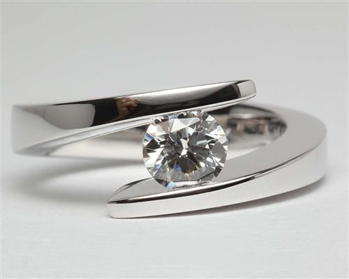 White Gold  Tension Ring