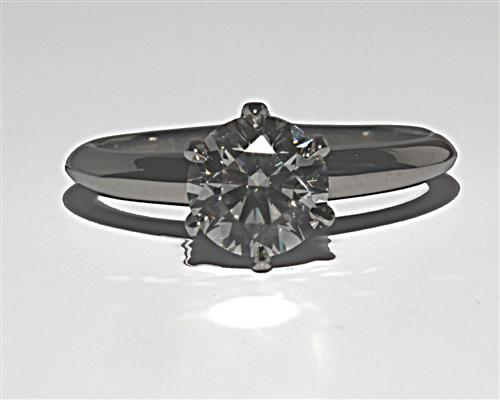 Platinum 1.14 Round cut Solitaire Diamond Ring