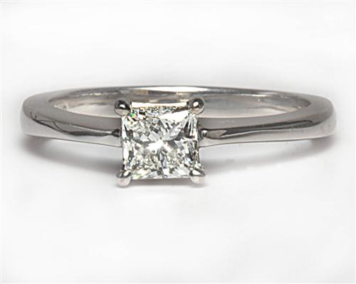 White Gold 0.45 Princess cut Diamond Ring