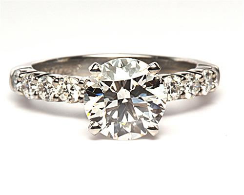 Platinum 1.56 Round cut Diamond Ring