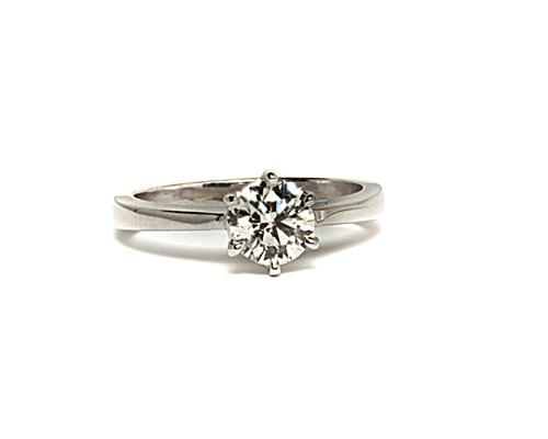 White Gold 0.71 Round cut Solitaire Ring Designs