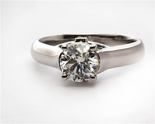 Platinum 1.30 Round cut Solitaire Ring Designs