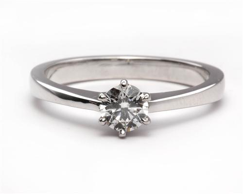 White Gold 0.34 Round cut Diamond Solitaire Ring Settings