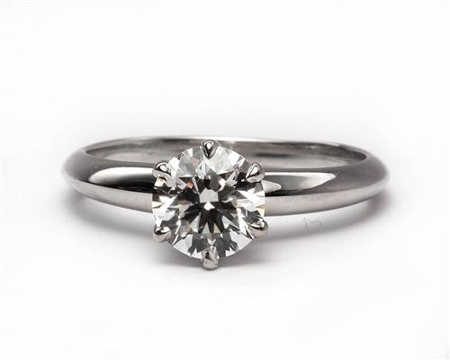 White Gold 0.85 Round cut Diamond Ring