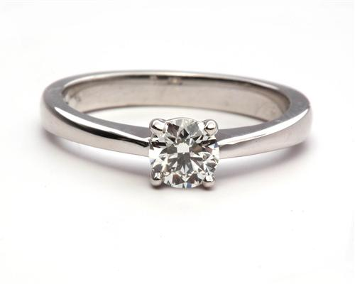 White Gold 0.45 Round cut Solitaire Ring Mountings