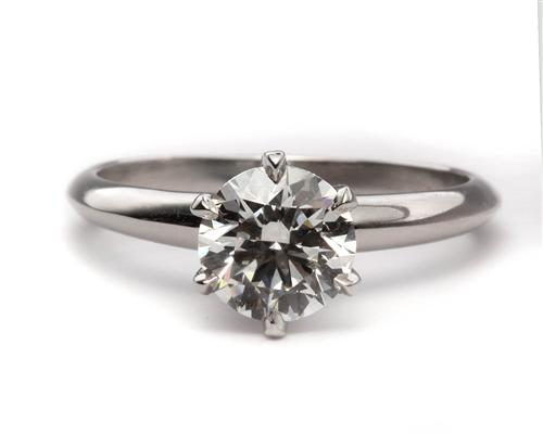 Platinum 1.20 Round cut Diamond Solitaire Ring Settings