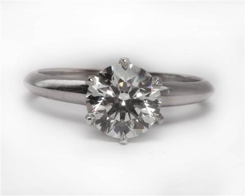 White Gold 1.24 Round cut Diamond Solitaire Rings