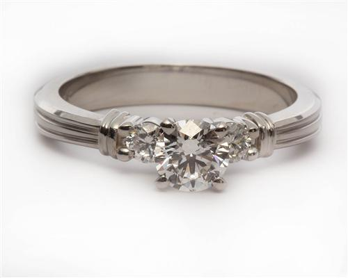 Platinum 0.61 Round cut Diamond Ring