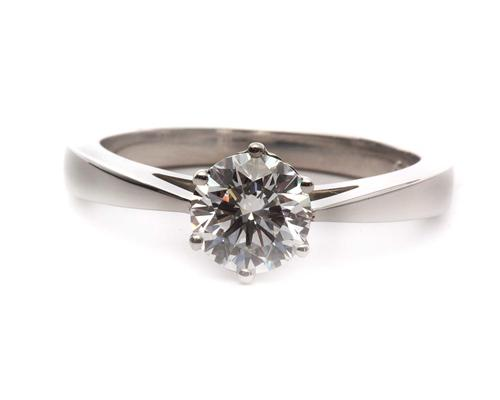 Platinum 0.92 Round cut Diamond Solitaire Ring Settings