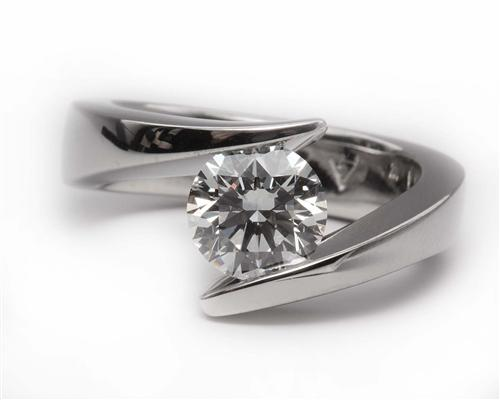 White Gold 1.50 Round cut Diamond Ring