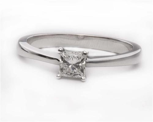 White Gold 0.47 Princess cut Diamond Ring