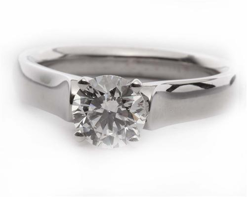White Gold 1.05 Round cut Diamond Solitaire Ring Settings