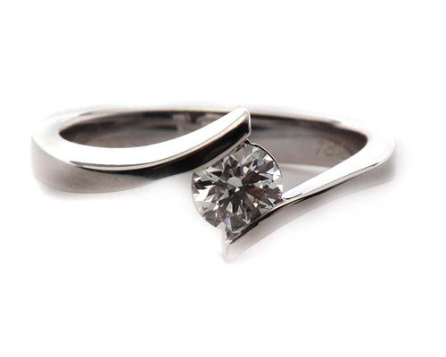 White Gold 0.55 Round cut Solitaire